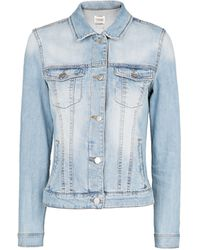 Mango Light Wash Denim Jacket - Lyst