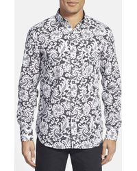 French Connection 'Bobbin' Slim Fit Sport Shirt - Lyst