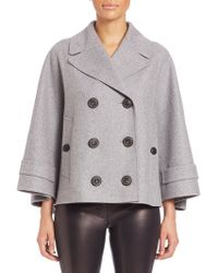 Burberry Prorsum | Double-breasted Cashmere Cape Coat | Lyst