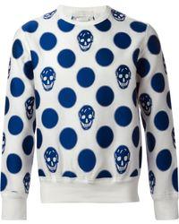 Alexander McQueen Skull and Polka Dot Sweatshirt - Lyst