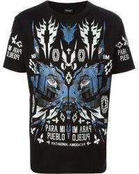 Marcelo Burlon County Of Milan Black Pueblo T-shirt - Lyst