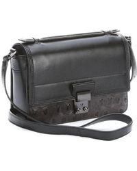 3.1 Phillip Lim Black Leather Tort Embossed Pashli Mini Shoulder Bag - Lyst