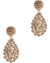 Oscar de la Renta Teardrop Crystal Earrings - Lyst