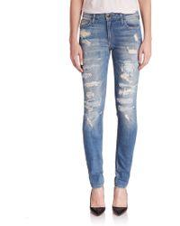 Joe's Jeans Dawn Distressed Straight-Leg Jeans blue - Lyst