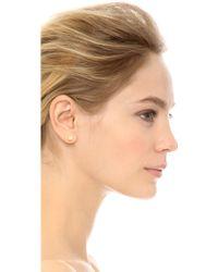 Elizabeth and James - Serra Stud Earrings - Gold - Lyst