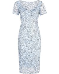 Alexon Light Blue Lace Dress - Lyst