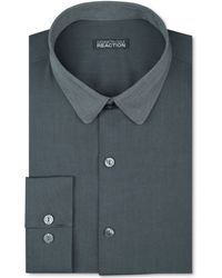 Kenneth Cole Reaction Slimfit Grey Twotone Dress Shirt - Lyst