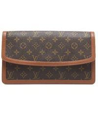 Louis Vuitton Preowned Monogram Canvas Dame Clutch - Lyst