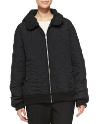 Stella McCartney Swirl Embroidered Quilted Coat - Lyst