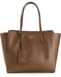 Gucci Brown Swing Tote - Lyst