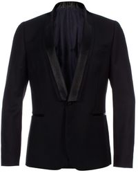 Paul Smith Black Textured-Wool Evening Blazer - Lyst