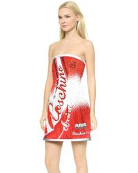 Moschino Soda Strapless Dress - Multi - Lyst
