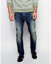 Diesel Jogg Jeans Krooley Slim Tapered Dark Wash - Lyst