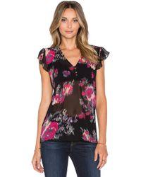 Joie Macy B Floral-Print Silk Blouse - Lyst