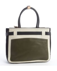 Reed Krakoff Army Ivory and Black Leather Medium Boxer Bag - Lyst