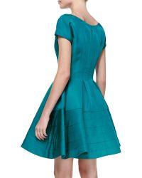 Zac Posen Shortsleeve Fitandflare Dress - Lyst