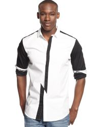 Inc International Concepts Long Sleeve Zap Shirt - Lyst