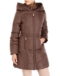 Vince Camuto Hooded Down Coat - Lyst