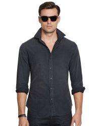 Ralph Lauren Black Label Chambray Sport Shirt - Lyst