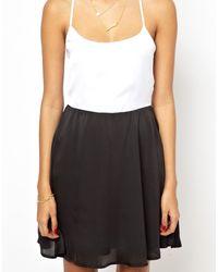 Glamorous Cami Slip Dress In Colour Block - Lyst