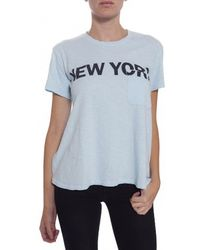 Textile Elizabeth And James New York Tee - Lyst