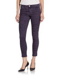 Marchesa Voyage - Flocked Skinny Jeans - Lyst
