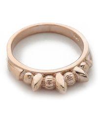 Pamela Love Thin Tribal Spike Ring  - Lyst