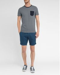Selected White Round-Neck Short-Sleeve Pocket T-Shirt - Lyst