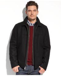 Tommy Hilfiger Melton Wool Zip-Front Bib Coat - Lyst
