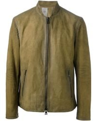 John Varvatos Distressed Harrington Jacket - Lyst