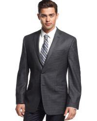 Calvin Klein Charcoal Checked Silkblend Slimfit Sport Coat - Lyst