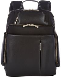 Barneys New York Saffianoleathertrimmed Backpack - Lyst
