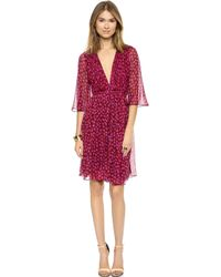 Diane Von Furstenberg Alicia Wrap Dress  Ballet Rose Small New Garnet - Lyst