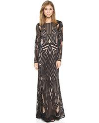 BCBGMAXAZRIA Veira Dress  Black - Lyst