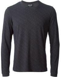 Giorgio Armani Fine Checked T-shirt - Lyst