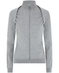 Armani Embellished Zip Up Top - Lyst