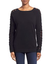 Kinross Cashmere - Cashmere Braided Dolman Sleeve Sweater - Lyst