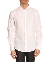 Billtornade Cyrius Off-White Wing-Collar Shirt - Lyst