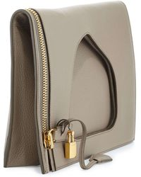 Tom Ford Alix Small Calfskin Hobo Bag brown - Lyst