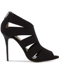 Karen Millen Sandals - Neoprene Cut Out High Heel black - Lyst