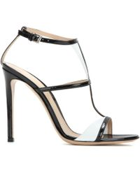 Gianvito Rossi Patent Leather Sandals - Lyst