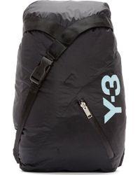 Y-3 Black Stowaway Backpack - Lyst