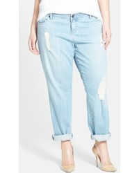 Kut From The Kloth Distressed Boyfriend Jeans - Lyst