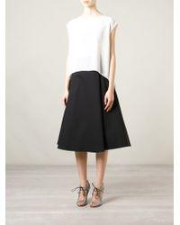 Alice + Olivia A-Line Midi Skirt - Lyst