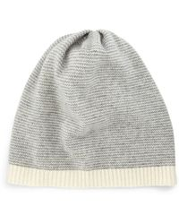 Eileen Fisher - Cashmere Striped Slouchy Hat - Lyst