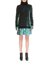 McQ by Alexander McQueen Sequin-embellished Turtleneck Dress - Lyst