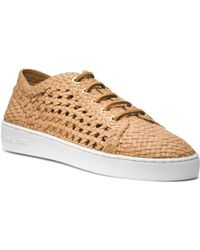Michael Kors Violet Woven-Leather Sneaker - Lyst