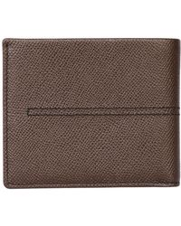 Tod's Stitched Embossed Leather Classic Wallet - Lyst