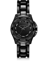 Karl Lagerfeld 36 Mm Black Ion-plated Stainless Steel Unisex Watch - Lyst