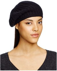 C By Bloomingdale's - Cashmere Ribbed Beret - Lyst